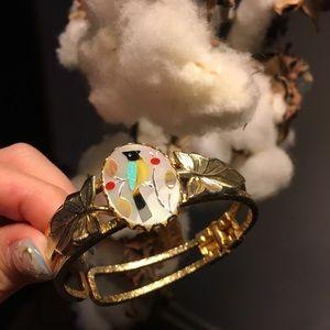 🌿Vintage native american zuni inlay cuff bracelet